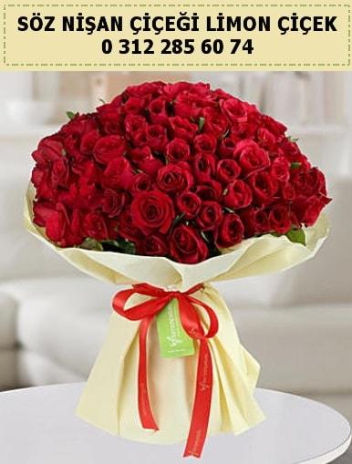 51 adet kırmızı gül söz nişan buketi çiçeği  Ankara çiçek siparişi sitesi