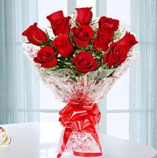 11 adet kırmızı gülden görsel şık buket  Ankara ucuz çiçek gönder