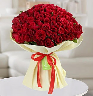 101 adet kırmızı gül buketi koca demet  Ankara internetten çiçek siparişi