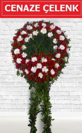 Kırmızı Beyaz Çelenk Cenaze çiçeği  Ankara hediye çiçek yolla
