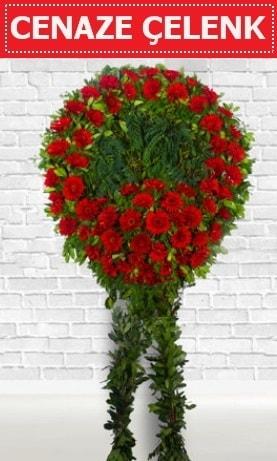 Kırmızı Çelenk Cenaze çiçeği  Ankara hediye çiçek yolla