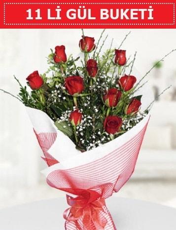 11 adet kırmızı gül buketi Aşk budur  Ankara çiçek gönderme sitemiz güvenlidir