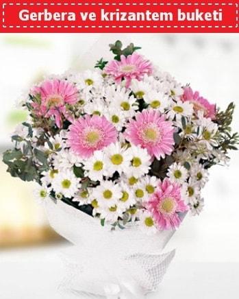 Papatya ve Gerbera Buketi  Ankara çiçek , çiçekçi , çiçekçilik