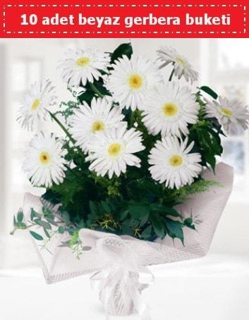 10 Adet beyaz gerbera buketi  Ankara çiçek , çiçekçi , çiçekçilik