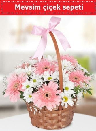 Mevsim kır çiçek sepeti  Ankara çiçek , çiçekçi , çiçekçilik