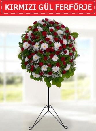 Kırmızı gül ferförje 40 adet gül ve gerbera  Ankara çiçek yolla