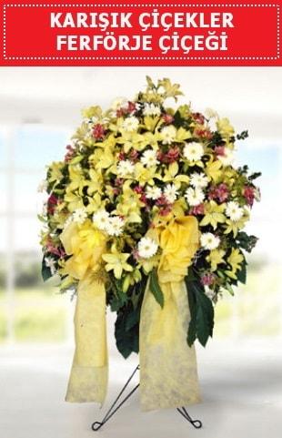 Karışık mevsim çiçeklerinden ferförje  Ankara internetten çiçek satışı