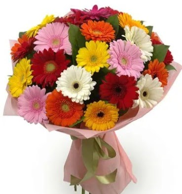 Karışık büyük boy gerbera çiçek buketi  Ankara çiçek satışı