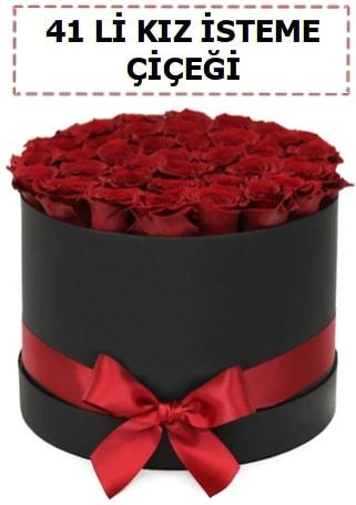 41 li kız isteme kutuda çiçek  Ankara ucuz çiçek gönder