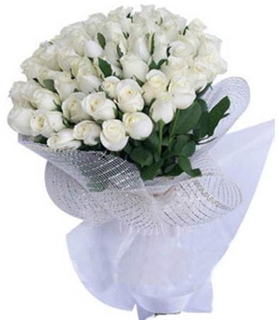 41 adet beyaz gülden kız isteme buketi  Ankara çiçek siparişi sitesi