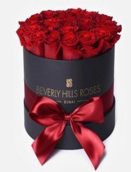 Siyah kutuda 25 adet kırmızı gül tanzimi  Ankara hediye çiçek yolla