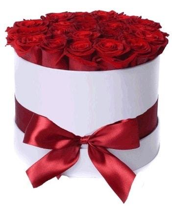 33 adet kırmızı gül özel kutuda kız isteme   Ankara çiçekçiler