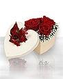 Ankara hediye sevgilime hediye çiçek  Kutuda 5 adet harika gül