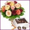 Ankara internetten çiçek siparişi  Renkli Güller ve çikolata